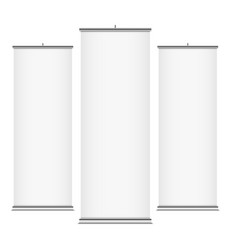 white vertical banner templates vector image