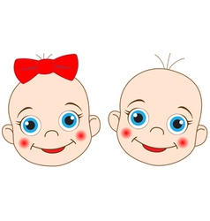 2 babies vector