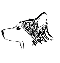 Abstract dog design vector