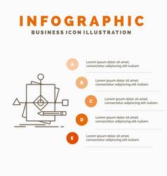 algorithm business foretelling pattern plan vector image