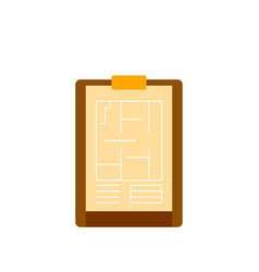 Architect clipboard icon flat style vector