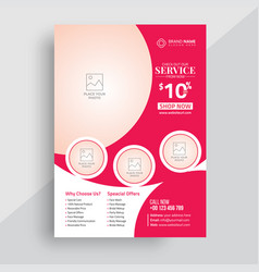 Beauty spa flyer design template vector