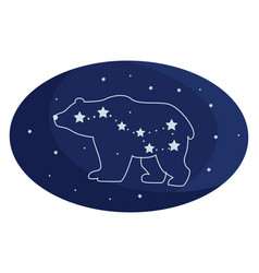 Big dipper on white background vector