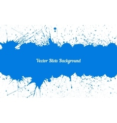 blue ink splashes with space for text over vector image