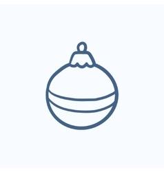 Christmas-tree decoration sketch icon vector