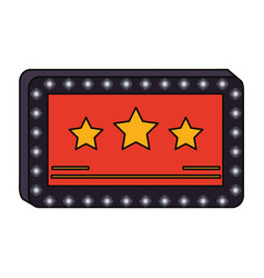 Cinema blank sign vector