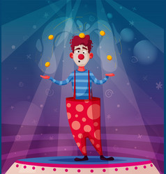 Circus show funny clown vector