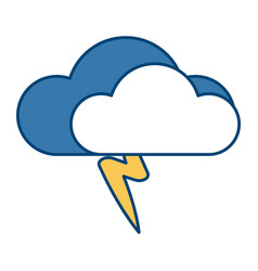 cloud with rain symbol vector image
