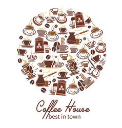 coffeehouse cafe and coffee poster vector image