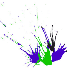 collection hand-drawn bright splashes set of vector image
