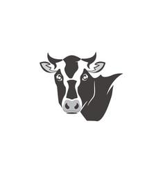 cow head dairy logo design vector image