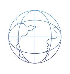 degraded outline network global connection data vector image