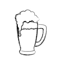 Delicious beer draw vector