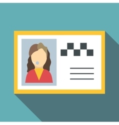 Document taxi driver icon flat style vector