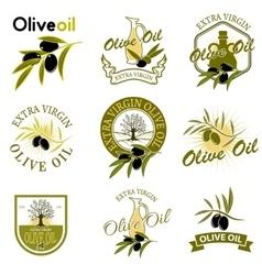 Extra virgin olive oil labels Design element for vector