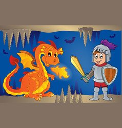 fairy tale image with dragon 6 vector image