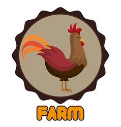 Farm animal icon vector