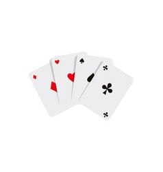 flat cartoon four aces playing cards vector image