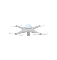 flat icon of drone in flight quadcopter vector image