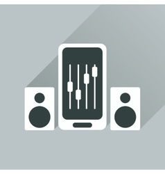 Flat web icon with long shadow mobile volume vector