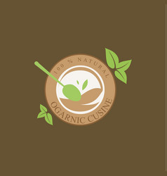 fresh and organic food vector image