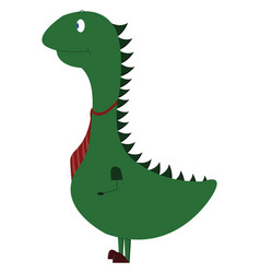 funny dino on white background vector image