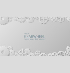 Gears mechanism industrial background vector