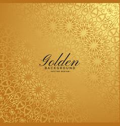golden premium background with pattern design vector image