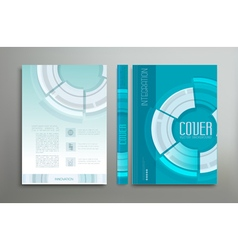 green-blue template cover vector image