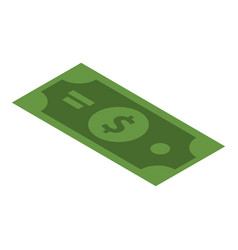 green dollar icon isometric style vector image