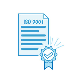iso 9001 certificate vector image