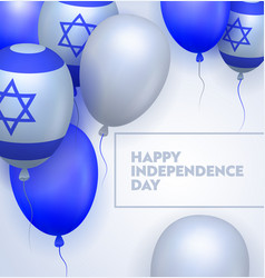 Israel independence day ceremony typography banner vector