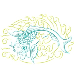 Koi Fish vector image