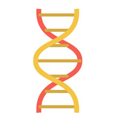 lab dna structure icon flat style vector image