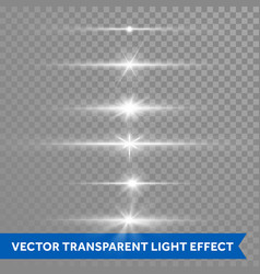 Light shine effect or starlight lens flare vector
