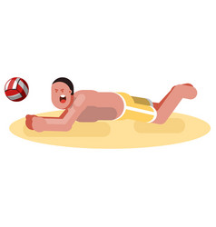 Man playing voleyball vector