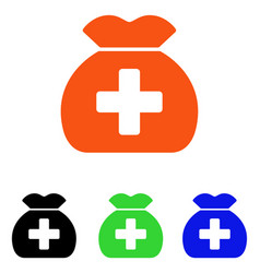 medical fund sack flat icon vector image