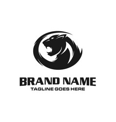 panther head logo vector image