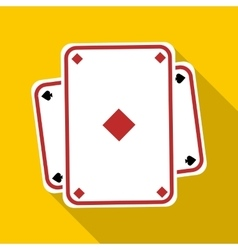 Playing card icon flat style vector image