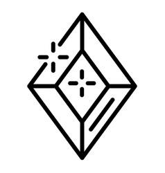 Precious gemstone icon outline style vector