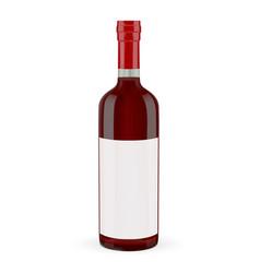 red wine bottle vector image