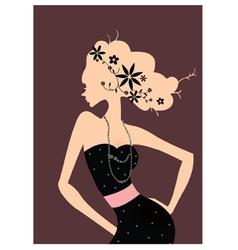 Retro Fashion Poster vector image