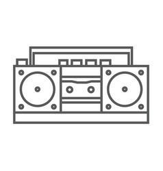 retro tape recorder icon vector image