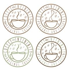 Set of coffee infinity vintage labels vector
