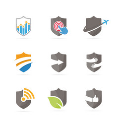 Set of shield logo combination security and vector
