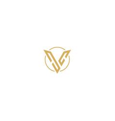 Shape v initial brand luxury logo vector