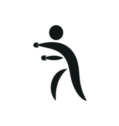 Silhouettes of figures boxer Boxing symbol vector image