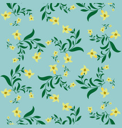 Simple vintage floral pattern vector