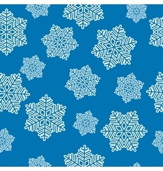 snowflake regular seamless vector image