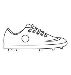 Soccer boot icon outline style vector